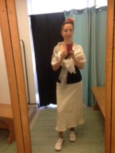 Jag tog på mig en kjol direkt!