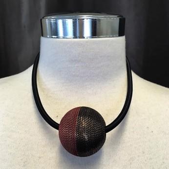 Tvåfärgat kort halsband