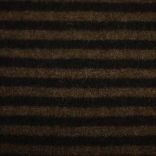 Nr.1 Mörkbrun och svart blockrandig.
